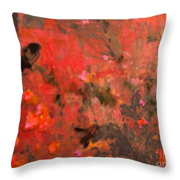 Love In Red 3 Throw Pillow by Nancy Kane Chapman