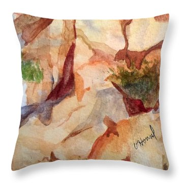 Love In The Rocks Medjugorje 2 Throw Pillow by Vicki  Housel