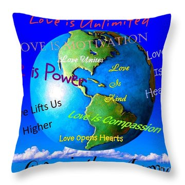 Throw Pillow featuring the digital art Love Is. . . . by Bobbee Rickard