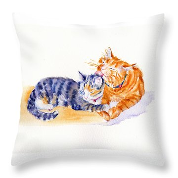Love Is A Touch Throw Pillow