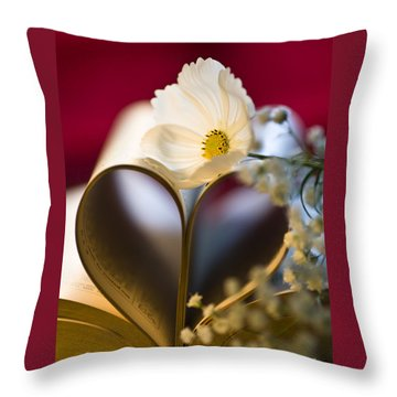 Love Is All Around Throw Pillow by Jan Bickerton
