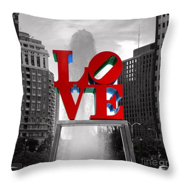 Love Is Always Black And White Square Throw Pillow