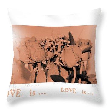 Endless Love. Love Is... Collection 13. Romantic Throw Pillow by Oksana Semenchenko