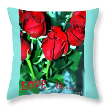 Love Is... Collection. Delightful Throw Pillow