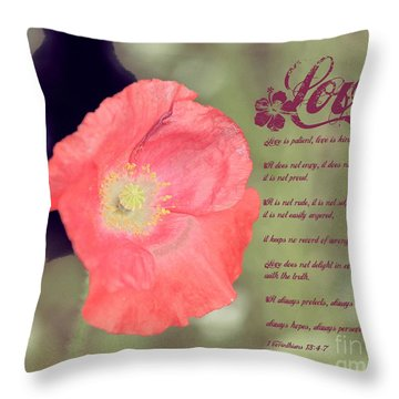 Love Is Throw Pillow by Erica Hanel