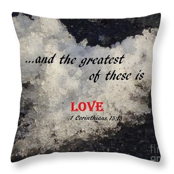 Love Is Great Throw Pillow