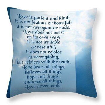 Love Is Patient - Sky Photo Throw Pillow