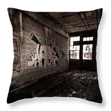 Love Is Watching Someone Die Throw Pillow by Priya Ghose