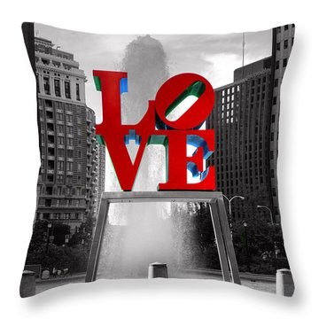 Love Isn't Always Black And White Throw Pillow