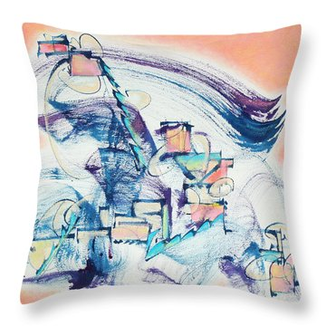 Love Leading The Way Throw Pillow by Asha Carolyn Young