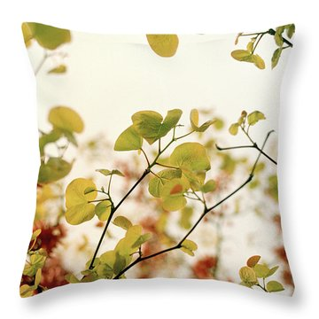 Throw Pillow featuring the photograph Love Leaf by Rebecca Harman