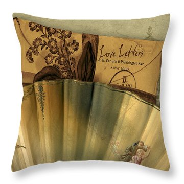 Love Letters Throw Pillow by Sarah Vernon