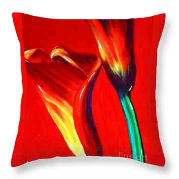 Love Lilies Throw Pillow by Jackie Carpenter