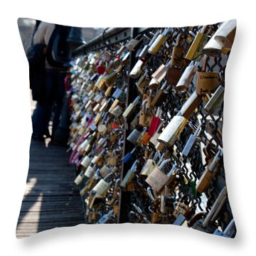 Love Locks Throw Pillow