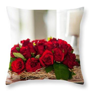 Love Message II Throw Pillow by Jenny Rainbow