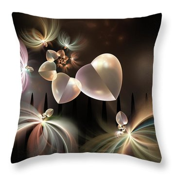 Throw Pillow featuring the digital art Love Needs Freedom by Gabiw Art