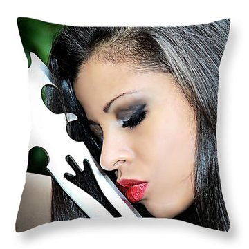 Love Of Steel Throw Pillow