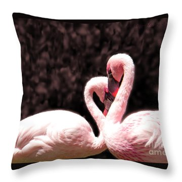 Love Of The Flamingos Throw Pillow