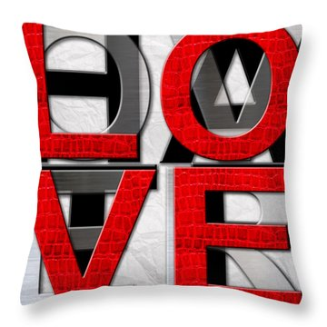 Love Over Hate Throw Pillow