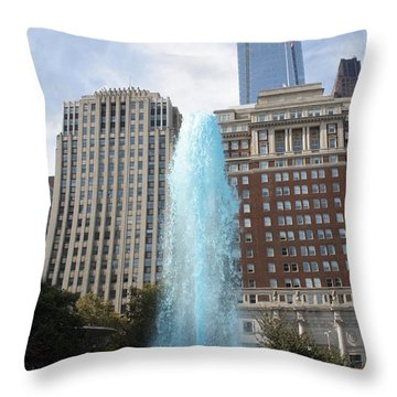 Love Park Throw Pillow by Christopher Woods