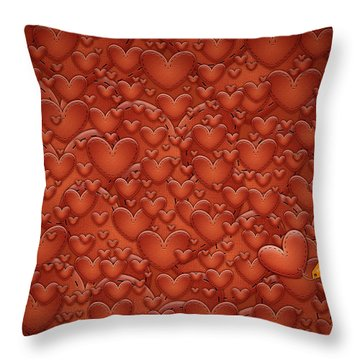Love Patches Throw Pillow by Gianfranco Weiss