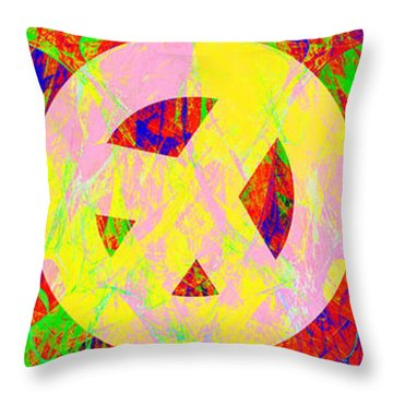 Throw Pillow featuring the photograph Love Peace And Rock And Roll Return To The Summer Of Love 20140605 by Wingsdomain Art and Photography