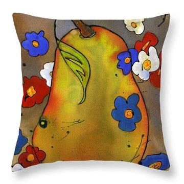 Love Pear  Throw Pillow by Blenda Studio