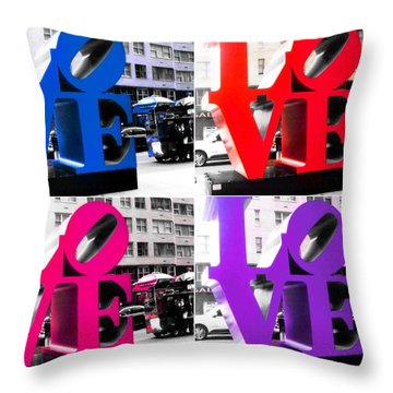 Love Pop Throw Pillow by J Anthony