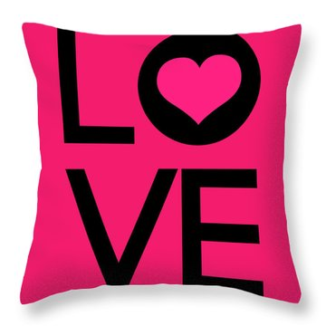 Love Poster 5 Throw Pillow by Naxart Studio