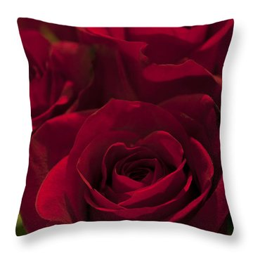 Throw Pillow featuring the photograph Love Red Roses by Ivete Basso Photography