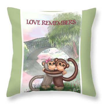 Love Remembers Throw Pillow by Jerry Ruffin