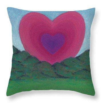 Love Rising Throw Pillow