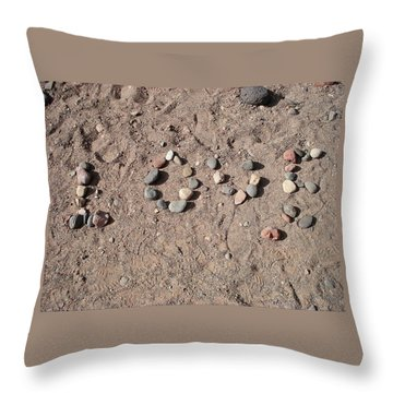 Love Rocks Throw Pillow