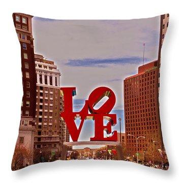 Love Sculpture - Philadelphia - 2 Throw Pillow