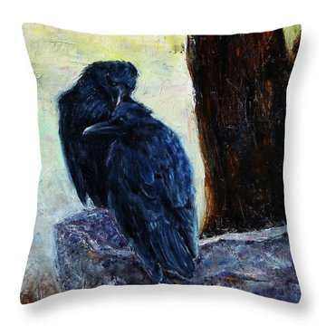 Throw Pillow featuring the painting Love Season I by Xueling Zou