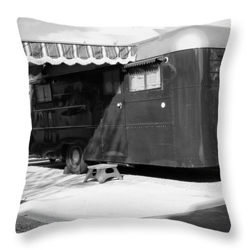 Love Shack Bw Palm Springs Throw Pillow by William Dey