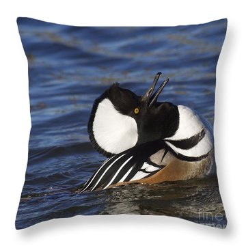 Love Sick Merganser Throw Pillow