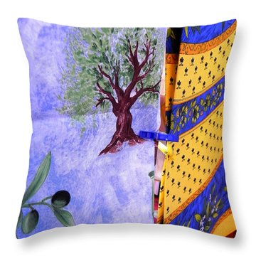 Love The Look Of The Fabric Throw Pillow by Peggy Stokes