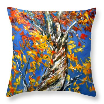 Throw Pillow featuring the painting Love That Reaches by Meaghan Troup
