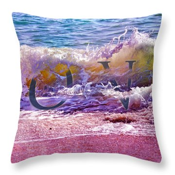 Love The Wave Throw Pillow
