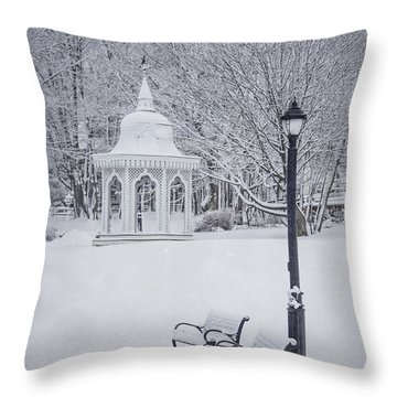 Love Through The Winter Throw Pillow