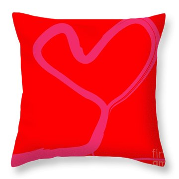 Throw Pillow featuring the painting Love Tree by Go Van Kampen