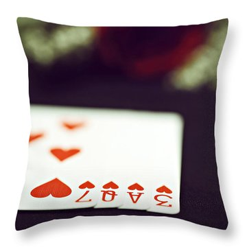 Throw Pillow featuring the photograph Love Trick by Trish Mistric