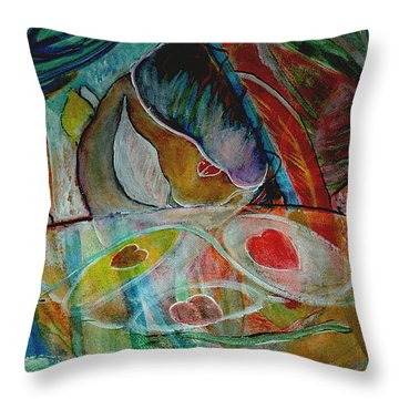 Love Two Throw Pillow