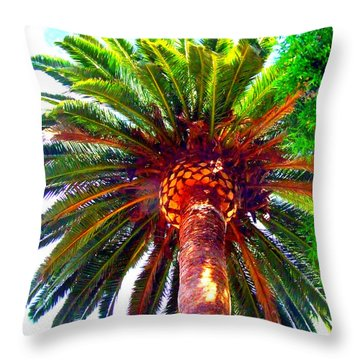 Love Under The Palm In San Diego Throw Pillow