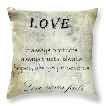 Love Throw Pillow by Veikko Suikkanen