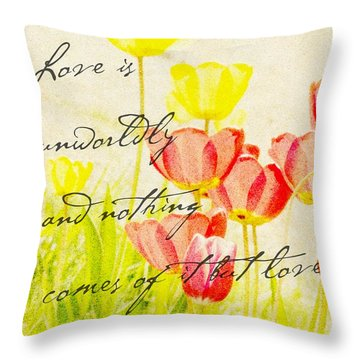 Love Words Throw Pillow by Kae Cheatham