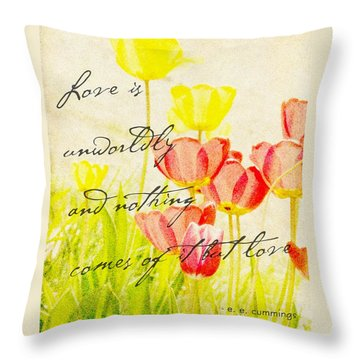 Love Words Throw Pillow