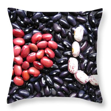 Love You Beans Throw Pillow by Ausra Huntington nee Paulauskaite