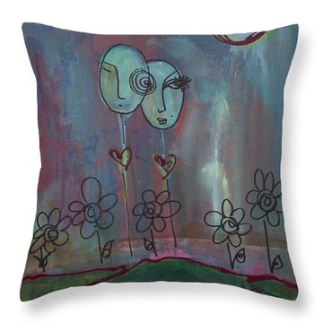 Love You Give Lollipops Throw Pillow